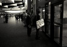 Airport evangelist