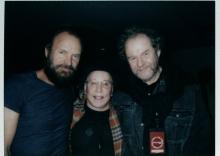 Sting, Paul Simon and fan